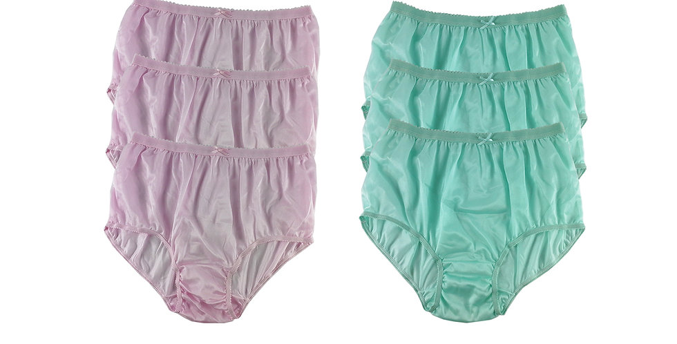NYSE01 Lots 6 pcs New Panties Wholesale Briefs Silky Nylon Men Women