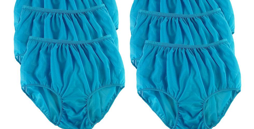 NSC15 Light Blue Lots 6 pcs Wholesale Women Panties Granny Briefs Nylon Lingerie