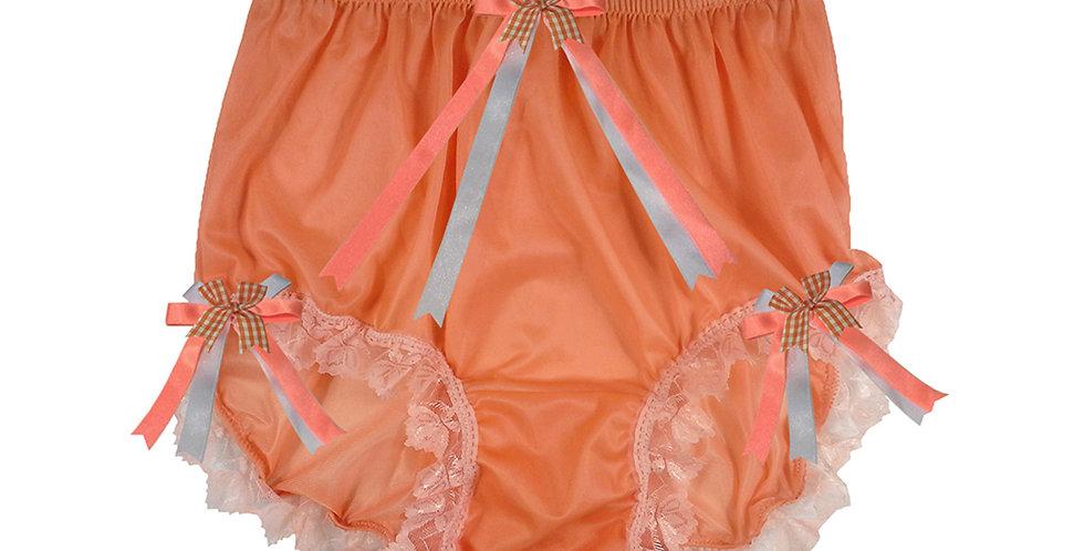 NNH18D04 Orange Handmade Panties Lace Women Men Briefs Nylon Knickers