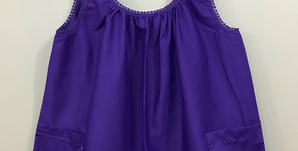 New Sissy Purple Cotton Blouse Tank Tops Clothes Cardigan Casual Men Party BLC02