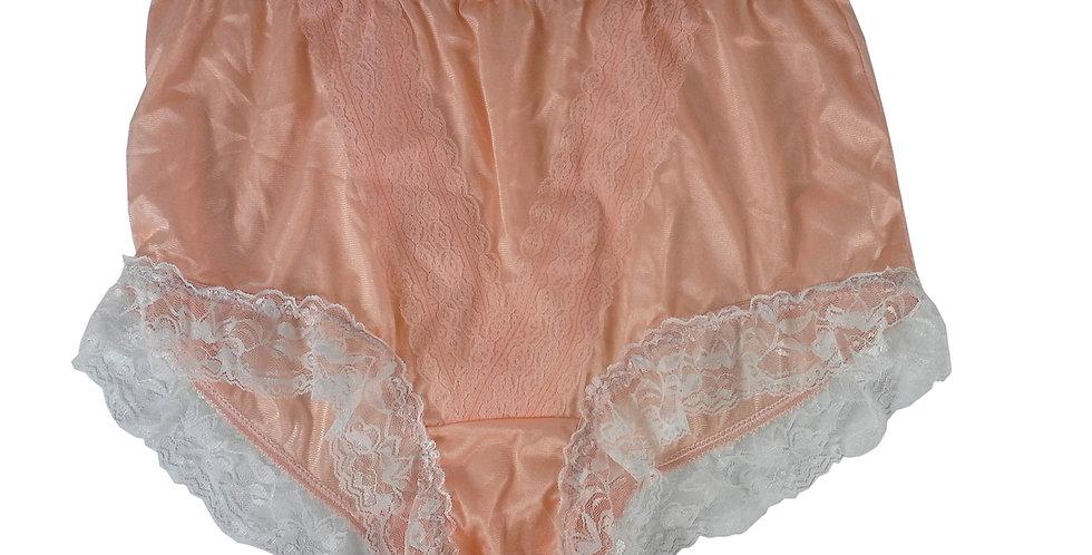 NLH01D05 Orange Panties  Lace Briefs Nylon Handmade  Men Woman