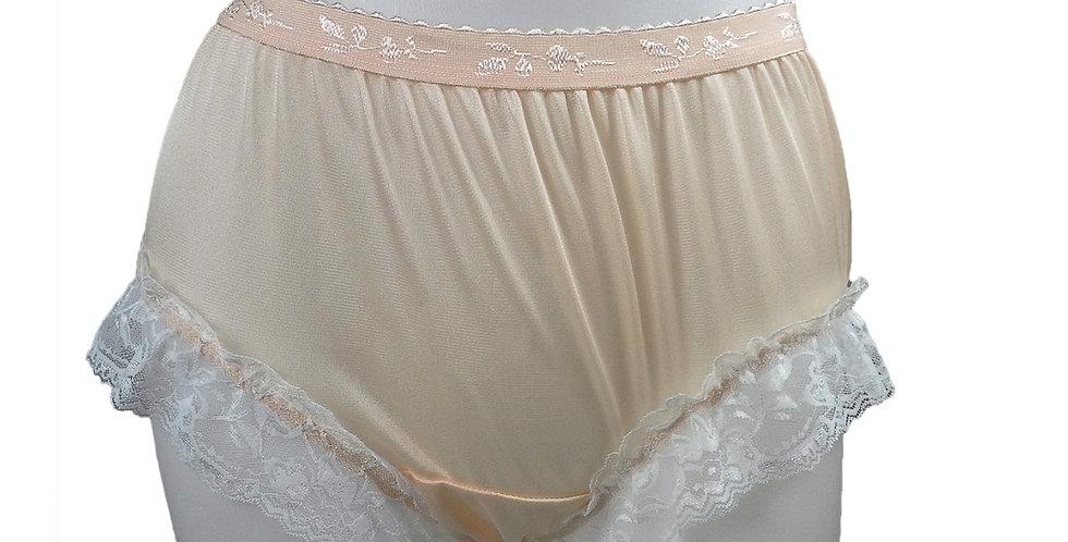 CKH01D03 Orange New Nylon Panties Women Handmade Lace Briefs