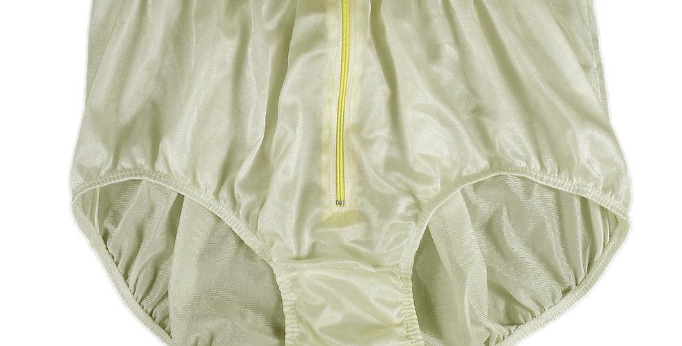 NQH03D02 Yellow Panties Granny Briefs Nylon Handmade Lace Men Woman