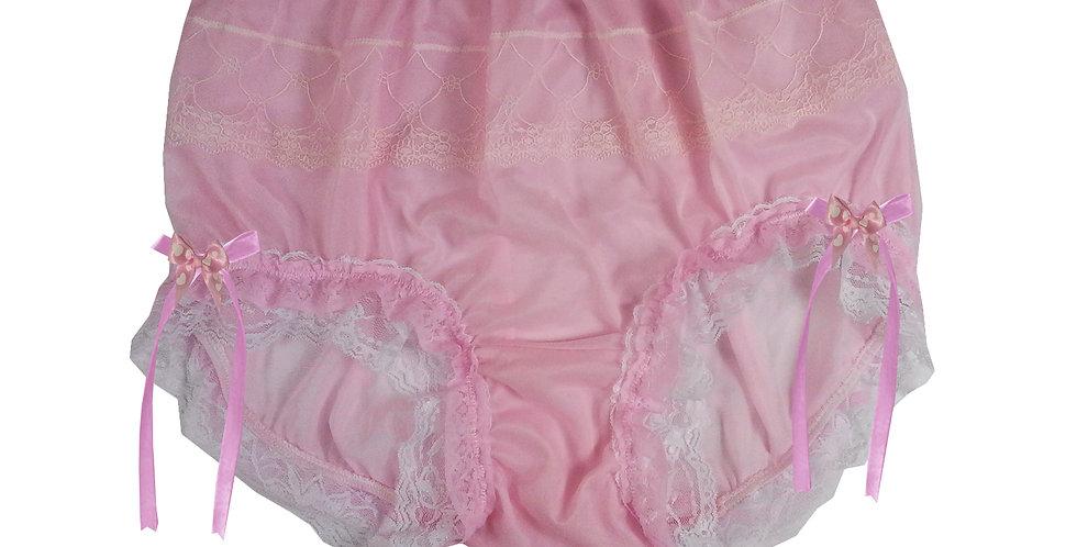JYH21D11 Pink Handmade Nylon Panties Women Men Lace Knickers Briefs