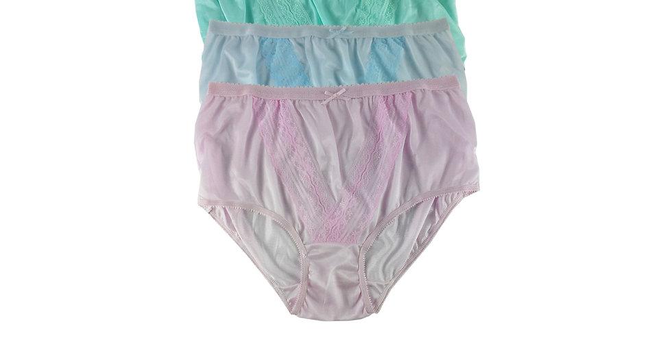 NLTH11 Lots 3 pcs Wholesale Panties Granny Lace Briefs Nylon Men Woman