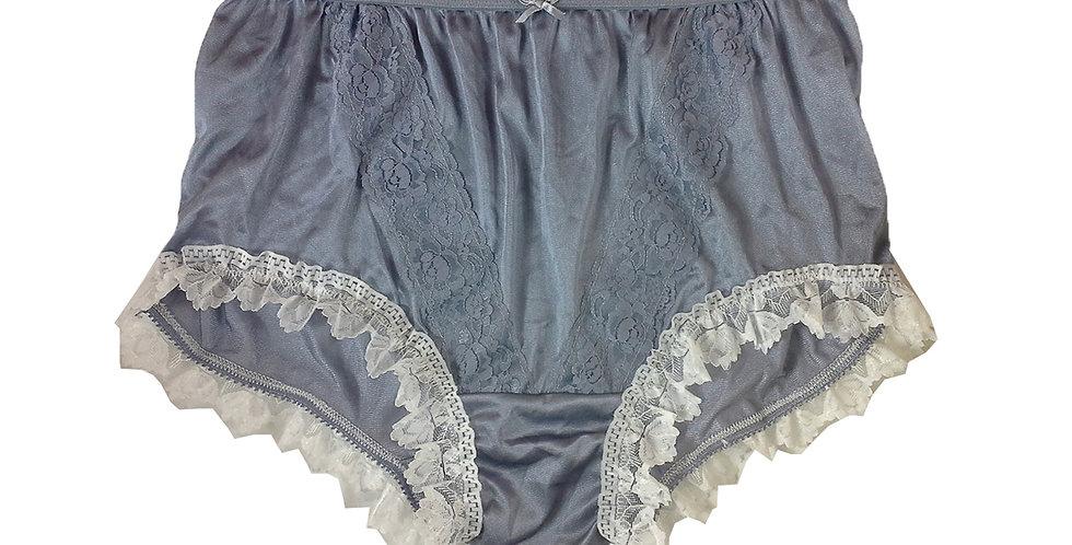 NLH24D08 Gray Grey New Panties Granny Lace Briefs Nylon Handmade  Men