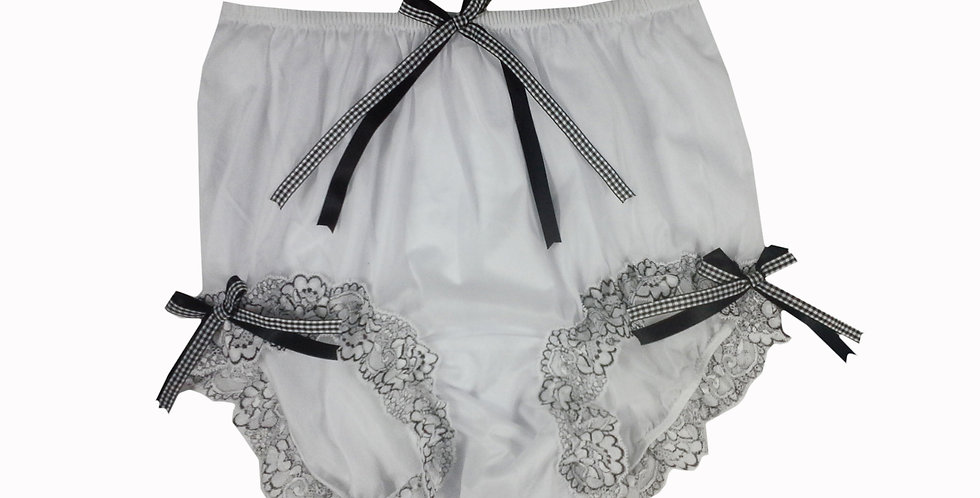 NNH11D134 Handmade Panties Lace Women Men Briefs Nylon Knickers