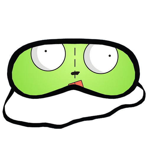 EYM1424 GIR INVADER ZIM Eye Printed Sleeping Mask