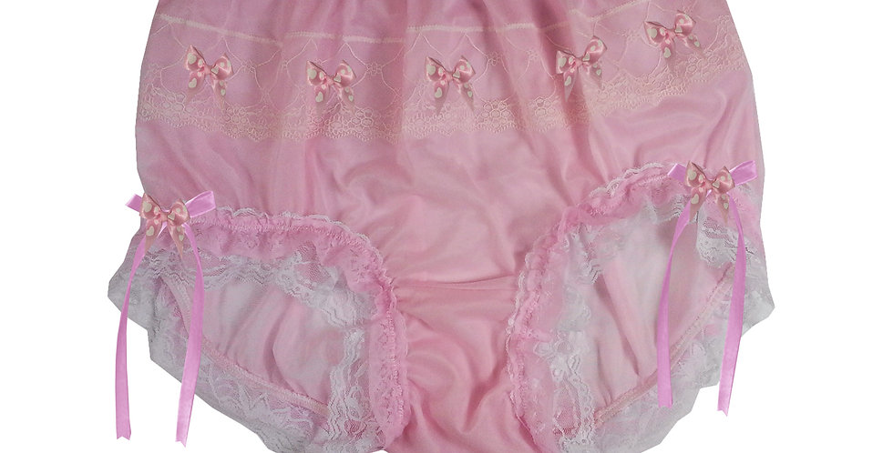 JYH22D34 Pink Handmade Nylon Panties Women Men Lace Knickers Briefs