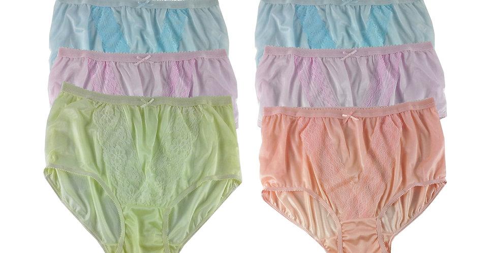 NLSG101 Lots 6 pcs Wholesale New Panties Granny Briefs Nylon Men Women
