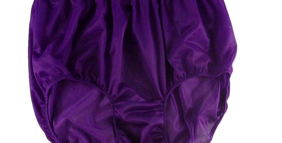 NN12 Deep Purple Women Vintage Style Panties HI-CUTS Briefs Nylon Knicker