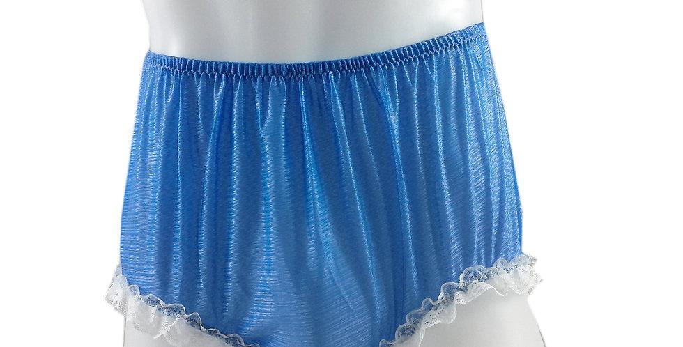 SFH02D10 Blue Shiny Nylon New Panties Women Men Handade Briefs