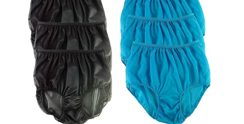 NSD14Lots 6 pcs Wholesale Women New Panties Granny Briefs Nylon Lingerie