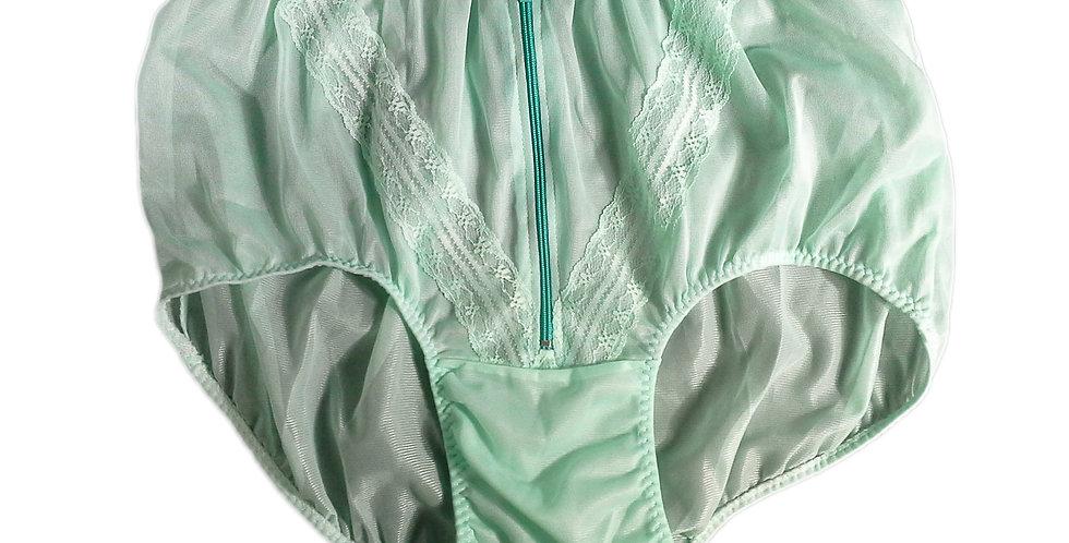 SSH03D03 Green Handmade Nylon Panties Lace Women Granny Men Briefs