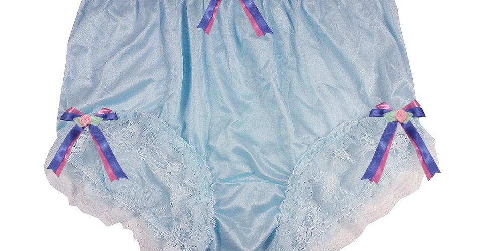 NYH22D01 Blue Handmade New Panties Briefs Lace Sheer Nylon Men Women
