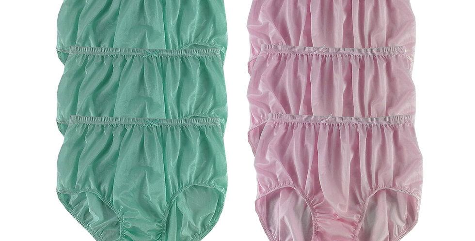 NQSC03 Lot 6 pcs Wholesale New Panties Granny Briefs Nylon Men Women
