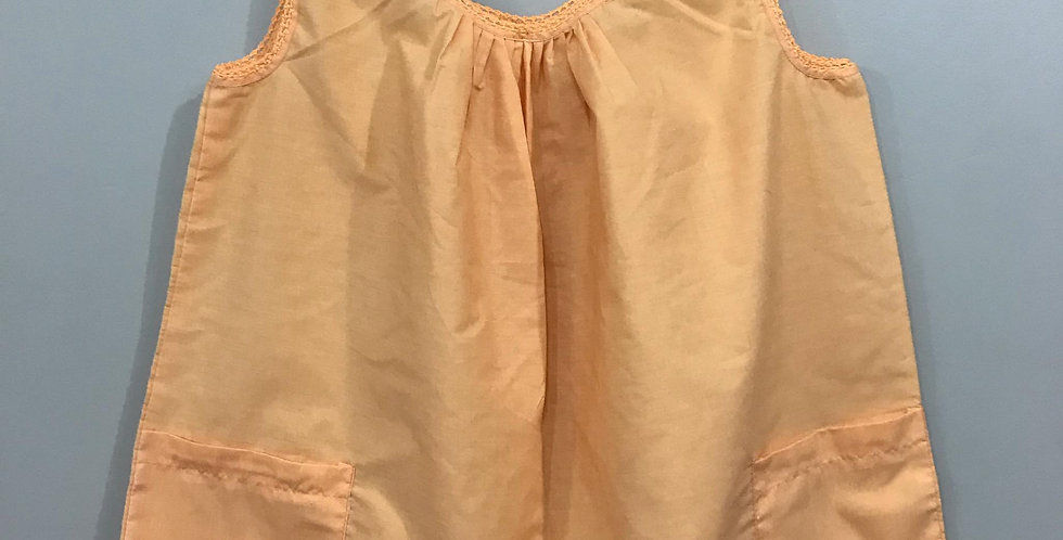 New Sissy Orange Cotton Blouse Tank Tops Clothes Cardigan Casual Men Party BLC03