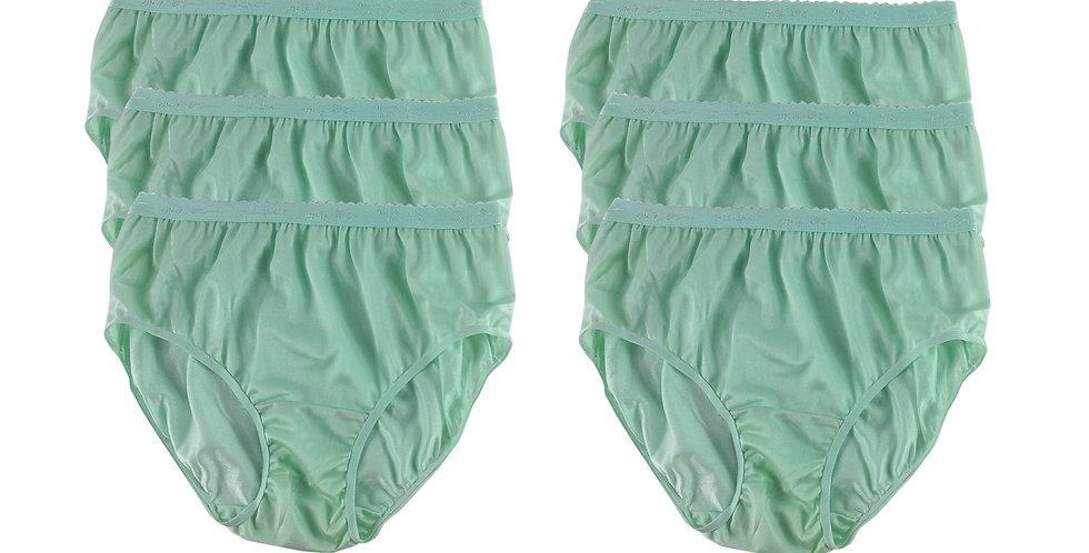 CKS GREEN Lots 6 pcs Wholesale New Nylon Panties Women
