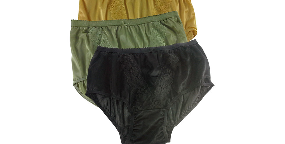 KJTK07 Lots 3 pcs Wholesale Panties Granny Lace Briefs Nylon Men Woman