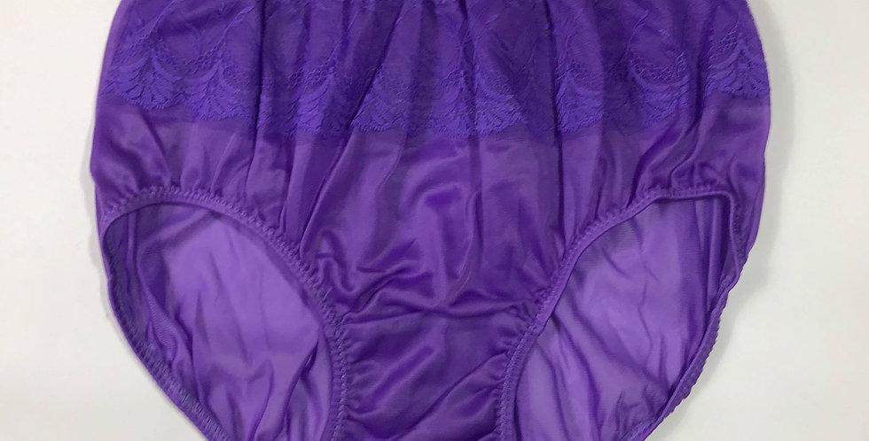 New Light Purple Underwear Nylon Brief Panties Men Floral Knickers Briefs JY11