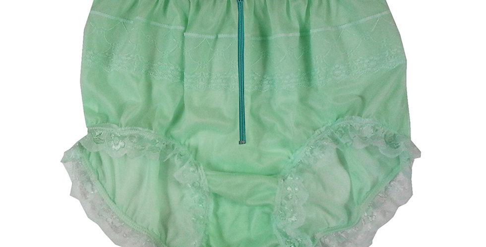 JYH19D03 Green Zipper Handmade Nylon Panties Women Men Lace Knickers Briefs