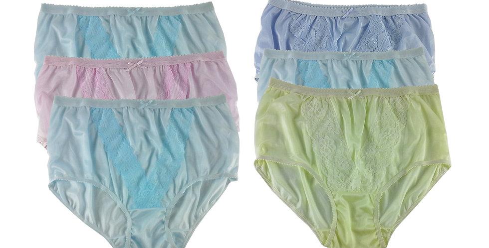 NLSG78 Lots 6 pcs Wholesale New Panties Granny Briefs Nylon Men Women