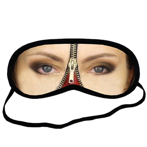 EYMt1725 ZIPPER FACE CREEPY MAKEUP Eye Printed Sleeping Mask