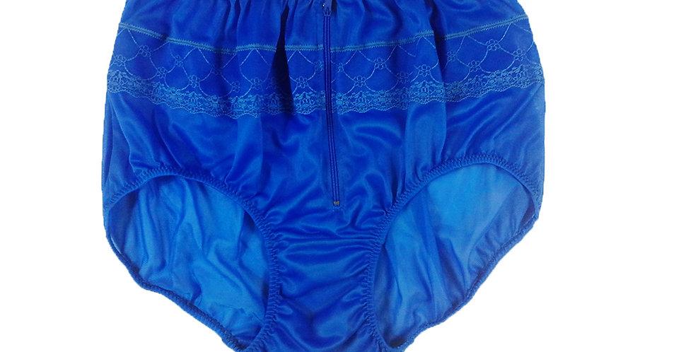 JYH03D03 Blue Zipper Handmade Nylon Panties Women Men Lace Knickers Briefs