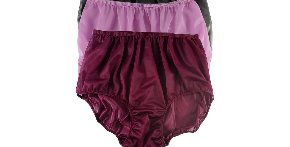 A134 Lots 3 pcs Wholesale Women New Panties Granny Briefs Nylon Knickers