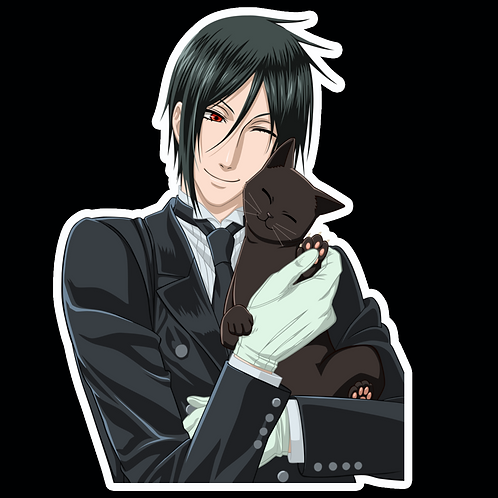 Anime Stickers Die-cut Car motorcycle laptops phone Truck wall BB54 Black Butler