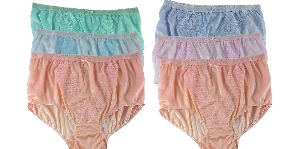 NLSG142 Lots 6 pcs Wholesale New Panties Granny Briefs Nylon Men Women