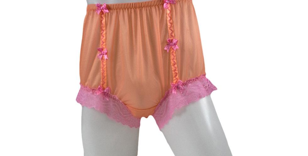 NNH06D12 Orange Handmade Panties Lace Women Men Briefs Nylon Knickers