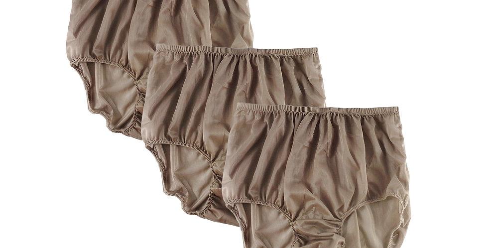 BB9 khaki brown Lots 3 pcs Wholesale Women New Panties Granny Briefs Nylon