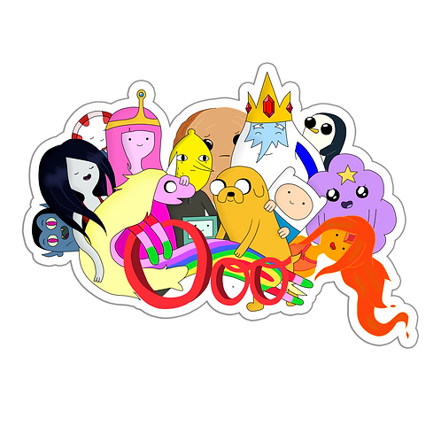 SRAA115 Adventure Time Anime Sticker Bumper Car Window Decal For Helmet