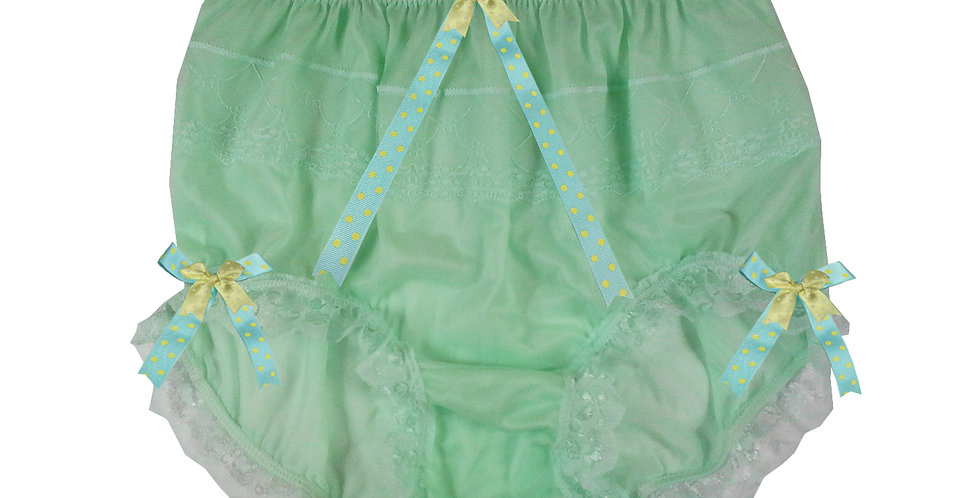 JYH11D04 fair green Handmade Nylon Panties Women Men Lace Knickers Briefs
