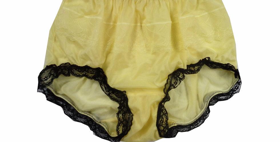 JYH08D02 Yellow Handmade Nylon Panties Women Men Lace Knickers Briefs
