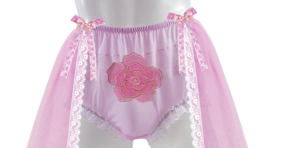 Pink Sheer Nylon Briefs Men knickers Handmade Costume Aurora Princess Panties