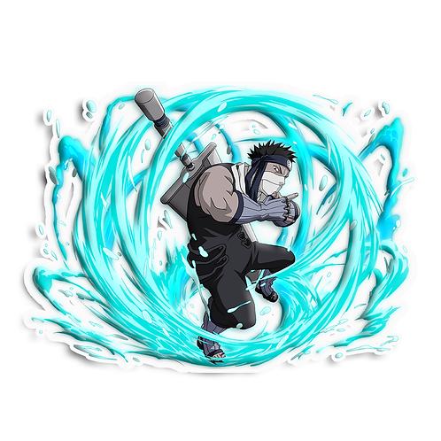 NRT569 Zabuza  Seven Ninja Swordsmen of the Mist Naruto anime sticker Ca
