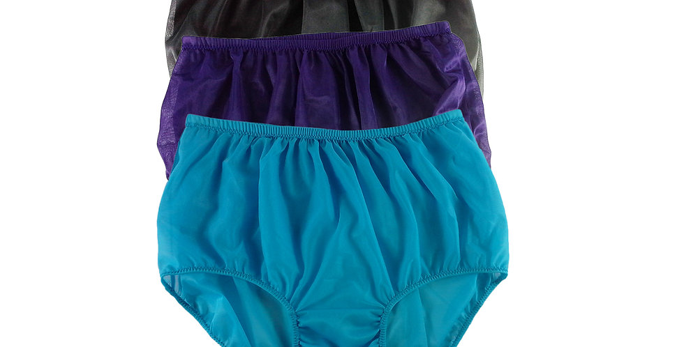 A14 Lots 3 pcs Wholesale Women New Panties Granny Briefs Nylon Knickers