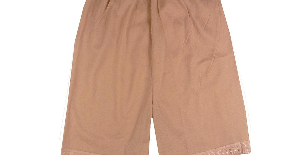 PCP04 brown Cotton Pettipants Women Slips Lace Lingerie Underwear