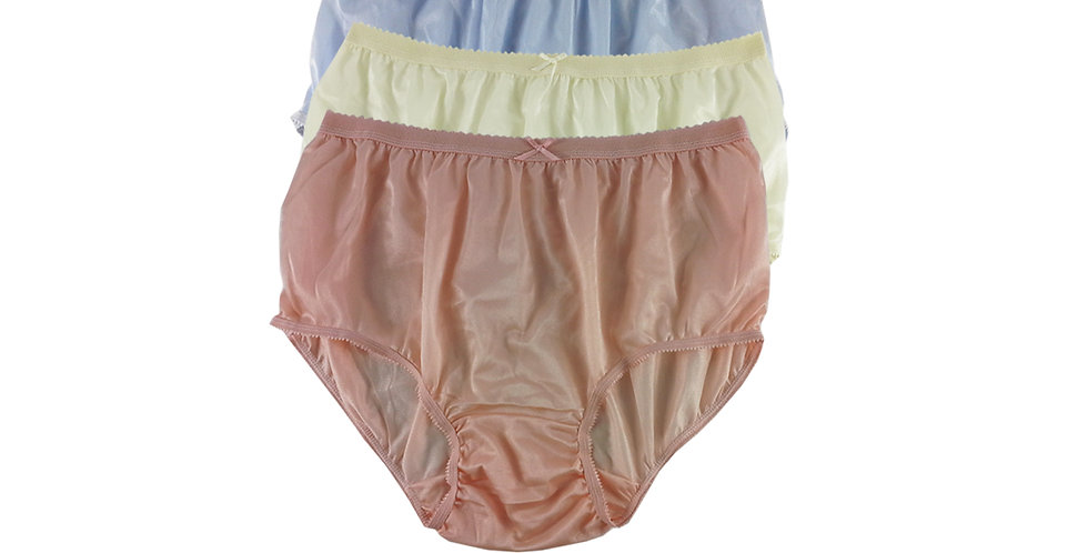 NYTF16 Lots 3 pcs New Panties Wholesale Briefs Silky Nylon Men Women