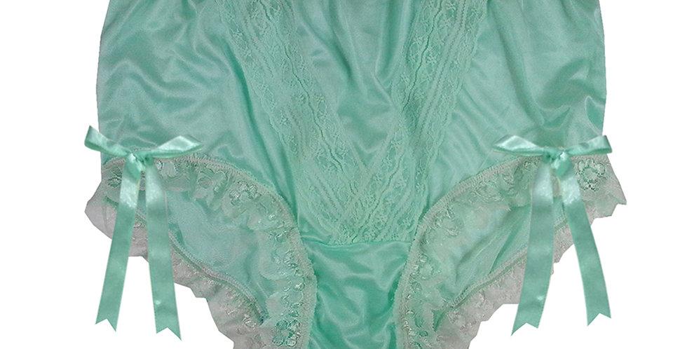 NLH17D01 Fair Green New Panties Granny Lace Briefs Nylon Handmade  Men