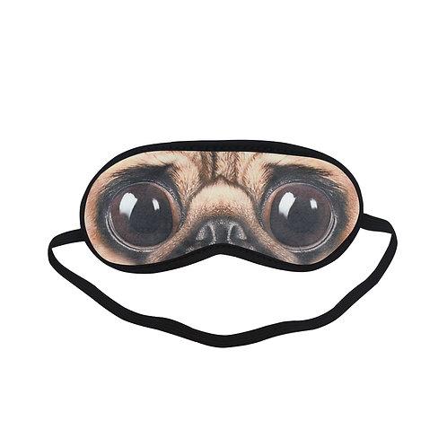 BTEM133 Pug Dog Eye Printed Sleeping Mask