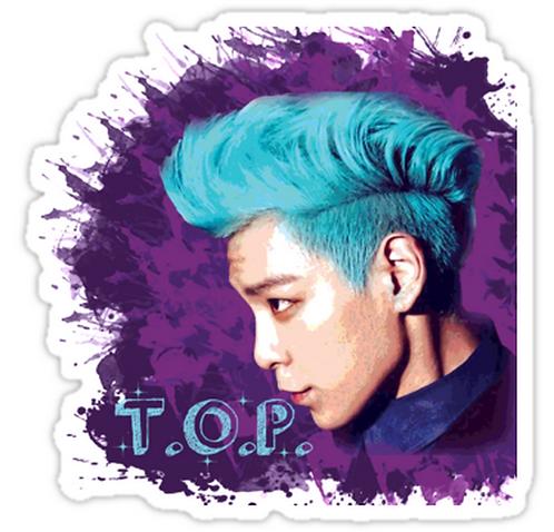 T.O.P ~ Big Bang SSTK040 K-Pop Music Brand Car Window Decal Sticker