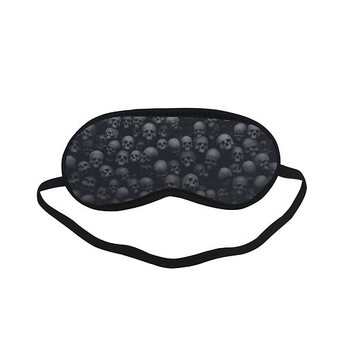 PTEM176 black skull pattern Eye Printed Sleeping Mask