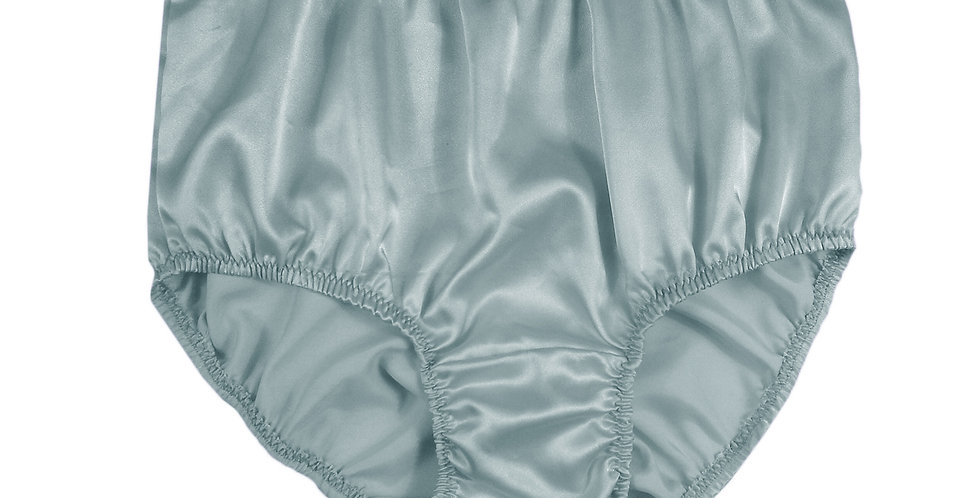 STP08 Gray Grey New Satin Panties Women Men Briefs Knickers