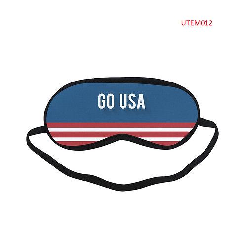 UTEM012 GO USA Eye Printed Sleeping Mask