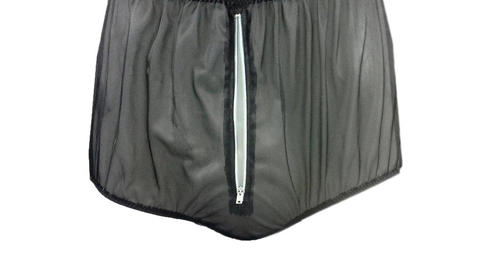 NNH03P03 black Handmade Panties Lace Women Men Briefs Nylon Knickers