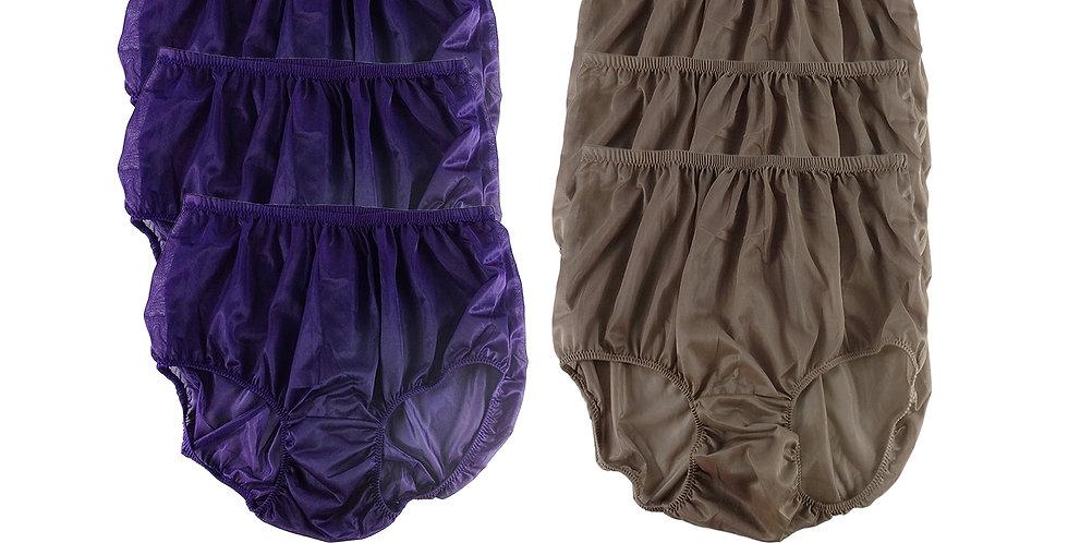 NSD36Lots 6 pcs Wholesale Women New Panties Granny Briefs Nylon Lingerie