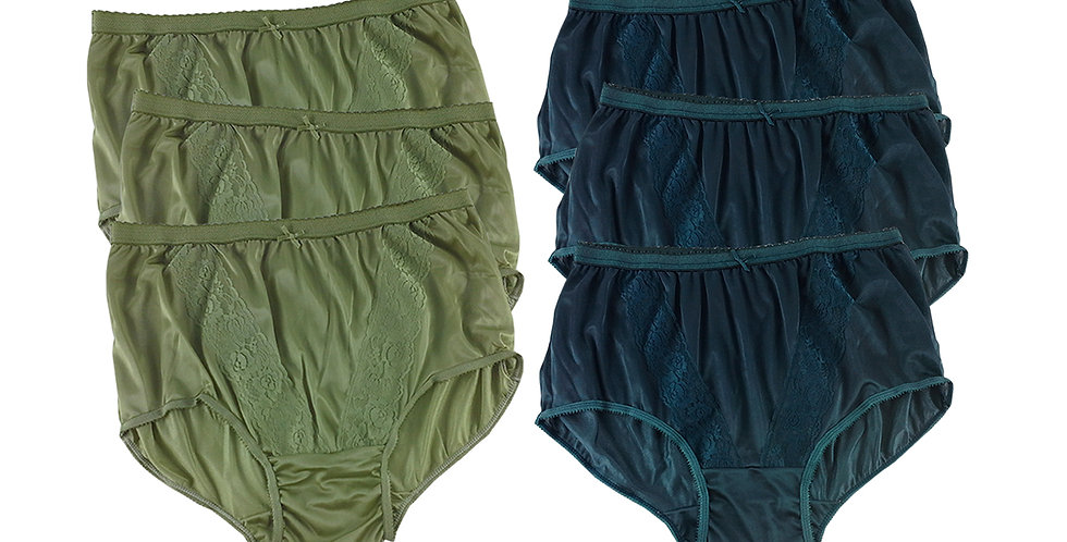 KJSJ11 Lots 6 pcs Wholesale New Panties Granny Briefs Nylon Men Women